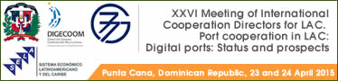 XXVI Meeting of International Cooperation Directors for Latin America and the Caribbean. Port cooperation in Latin America and the Caribbean: Digital ports: Status and prospects